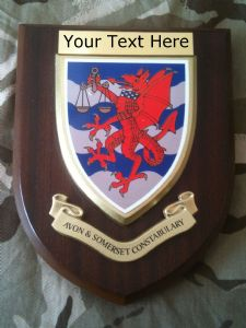 Avon & Somerset Constabulary Police Personalised Wall Plaque